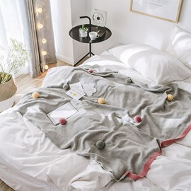 Pure Color Grey Cotton Creative Hanging Ball Blanket