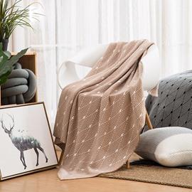 Simple Stripe Geometric Pattern Cotton Soft Blanket