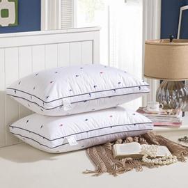 Cartoon Duck Printing White Abrasive Fabric Sleep Aid Bed Pillow