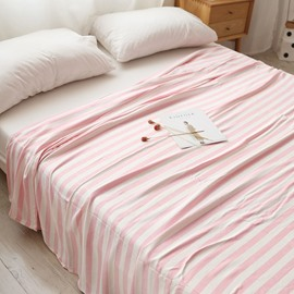 Simple Stripe Bamboo Fiber Flat Sheet