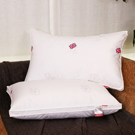 The Union Jack Printing White Cotton Quilting Bed Pillow