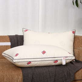 The Union Jack Printing Beige Quilting Cotton Bed Pillow