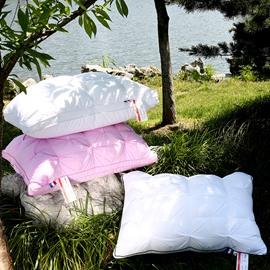 Unique Wrinkle Design Pure Color Cotton Simple Style Bed Pillow