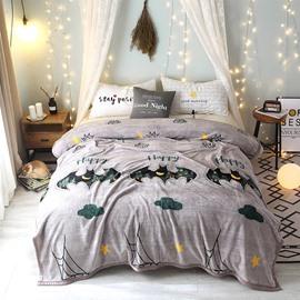 Home Fashion Designs Cute Cartoon Super Soft Flannel Blanket for Bed Sofa