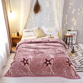 Sparkling Star Ultra Soft Warm Lightweight Flannel Blanket