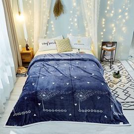 Flying Petal Series-Blue Soft Good Quality Flannel Blanket