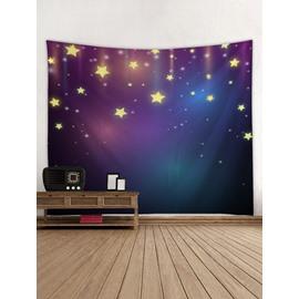 Stars Blue Galaxy 3D Printing Decorative Hanging Wall Tapestry