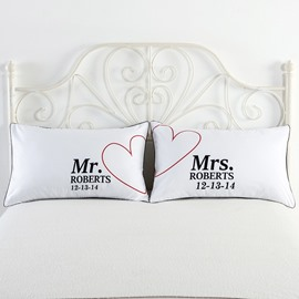 Mr. and Mrs. Roberts Printed One Pair of Couple Pillowcase Valentine's Gifts
