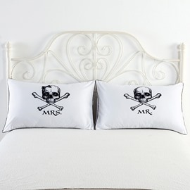 Skull and Mrs& Mr Printed Valentine's Gifts Pillowcases