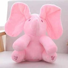 Sings & Plays Interactive Elephant Electronic Plush Pets Toy For Baby