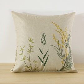 Floral Printed Simple Style Decorative Square Throw Pillow