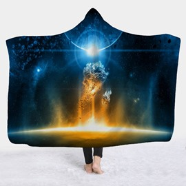 Starry Sky Galaxy Universe Printed Wearable 3D Hooded Blanket