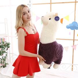 Cute Red and Purple Alpaca Plush Toy