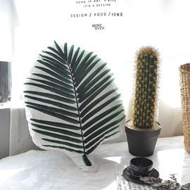 Fresh Green Banana Leaves Creative Home Office Throw Pillow