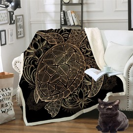 Warm And Double Thickened Berber Fleece Geometric Printed 3D Blanket