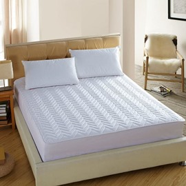 Wave Shape Medium-Soft Quilted Mattress Protector Fitted Sheet
