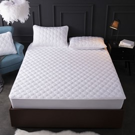 Water Ripple Style Pure Color Mattress Protector Fitted Sheet