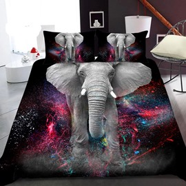 An Elephant Coming From A Distance 3D Printed Polyester 1-Piece Warm Quilt