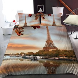Eiffel Tower In France In Autumn 3D Printed Polyester 1-Piece Warm Quilt