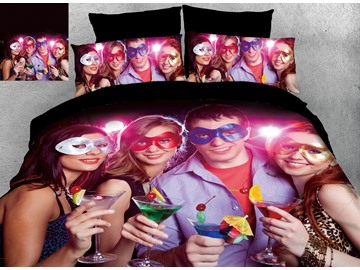 3D Picture Customization Reactive Printing Cutton 4-Piece Bedding Sets/Duvet Covers