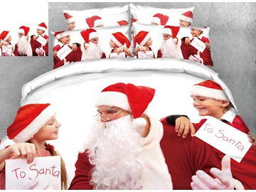 3D Customize Personal Picture Reactive Printing Polyester 4-Piece Bedding Sets/Duvet Covers