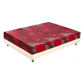 New Arrival Beautiful Red Roses Print 3D Fitted Sheet