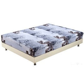 Quality Lifelike Wolf in Snow Print 3D Fitted Sheet
