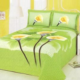Fresh Style Beautiful Lily Flower Pattern Printed Sheet