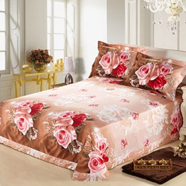 New Arrival Warm Color with Beautiful Flowers on Cotton Printed Sheet