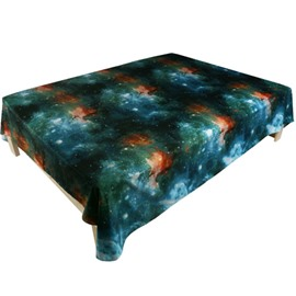 Beautiful Shining Galaxy Print Polyester Flat Sheet