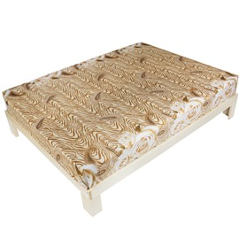 Luxury Golden Rose Printed 3D Fitted Sheet