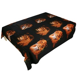 Heart-warming Lion Couples Print 3D Flat Sheet