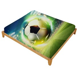 3D Soccer Ball with Stadium Printed Cotton Fitted Sheet