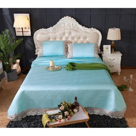 Light Green Lace Polyester 3- Piece Summer Sleeping Mat Sets
