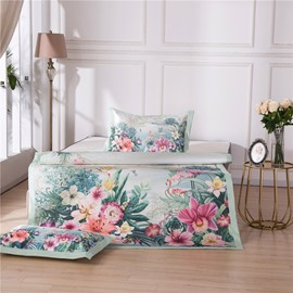 Flower and Natural Scenery Printing 3-Piece Summer Sleeping Mat Sets