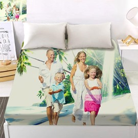 Custom Personal Picture 3D Digital Printing Fitted Sheet