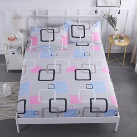Geometric Square Style Printed Waterproof Breathable Fitted Sheet