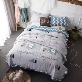 Lovely Elephant Print Cotton Air Conditioner Quilt