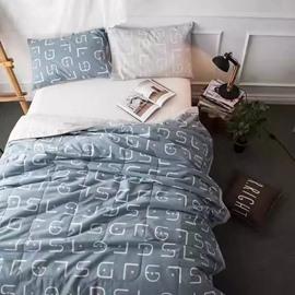 Concise Design Gray Cotton Air Conditioner Quilt
