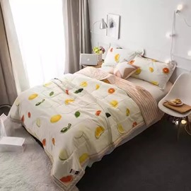 Fabulous Fruit Print Cotton Lightweight Air Conditioner Quilt