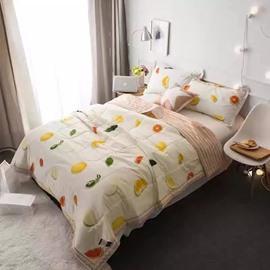 Fabulous Fruit Print Cotton Lightweight Air Conditioner Quilt