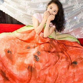 3D Realistic Watermelon Design Skincare Polyester Quilt