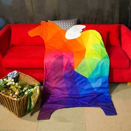 3D Colorful Horse-Shaped Design Lightweight Polyester Quilt