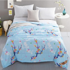Buds and Branches Pattern Polyester Lightweight Summer Quilts