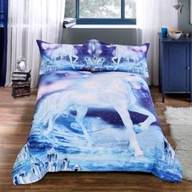 Simple Style Polyester Material Hand Wash Cleaning Animal Pattern Quilt