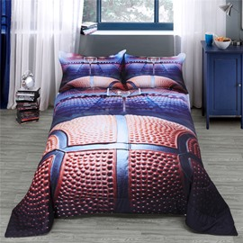 3D Basketball Pattern Reactive Printing Polyester Quilt
