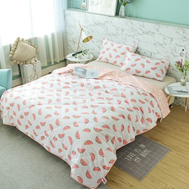 Watermelon Pattern Fresh Rural Style Cotton Summer Quilt