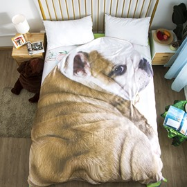 Shar Pei Dog Animal Shaped 3D Washable Light Summer Quilt