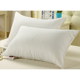 Soft and Light Exquisite White 100% Fibre Bed Pillow