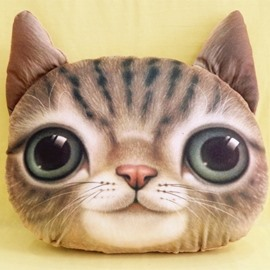 New Arrival Cute Smiling Kitty/Cat Print Throw Pillow